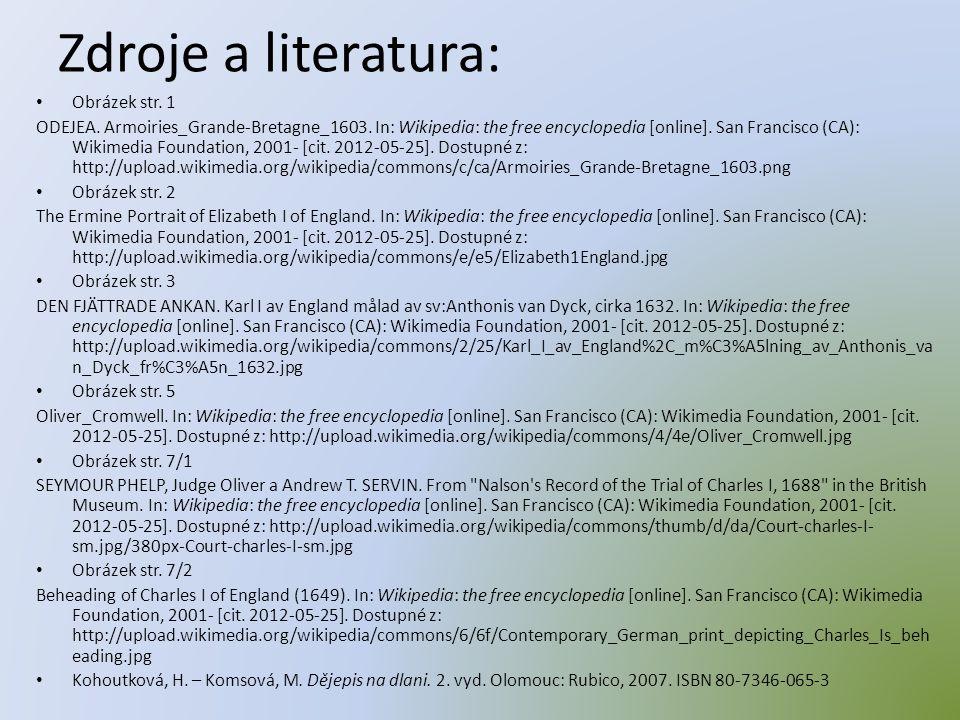 Zdroje a literatura: Obrázek str. 1