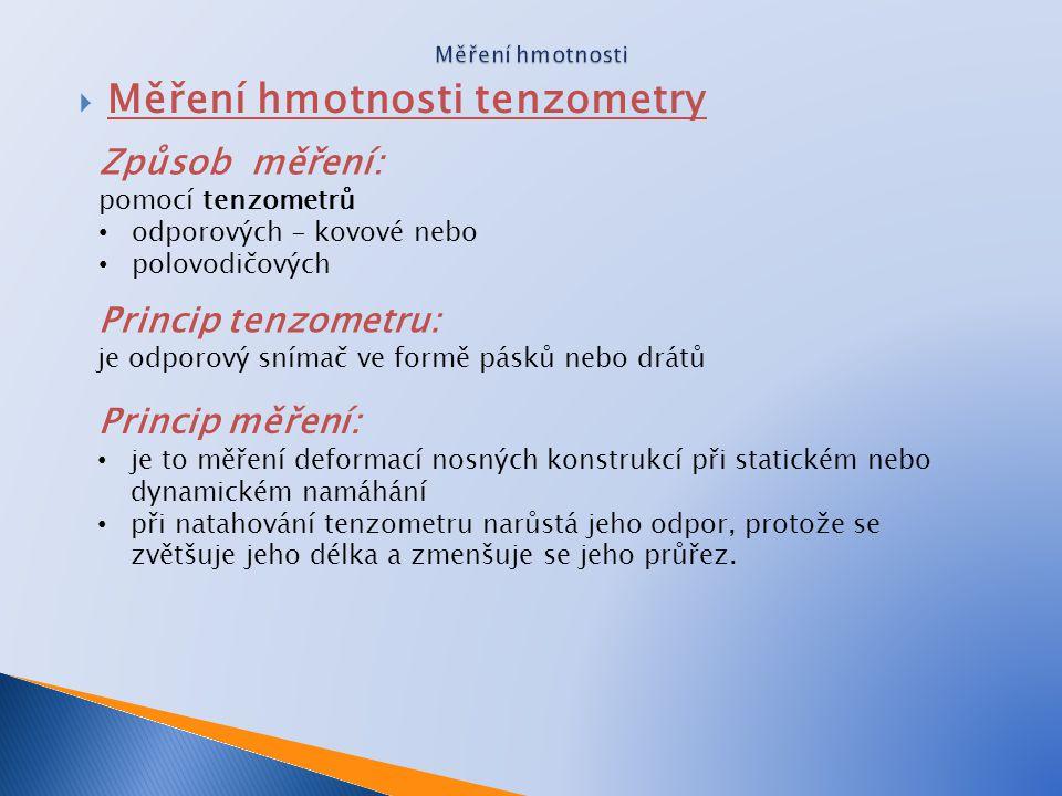 Měření hmotnosti tenzometry