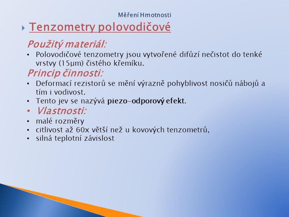 Tenzometry polovodičové