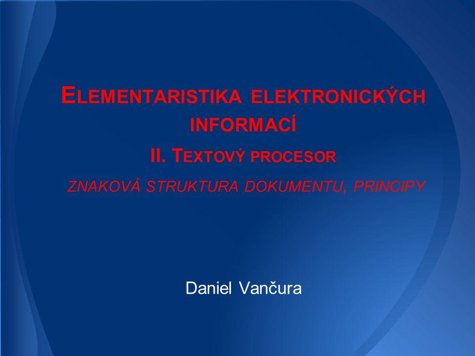 Elementaristika elektronických informací