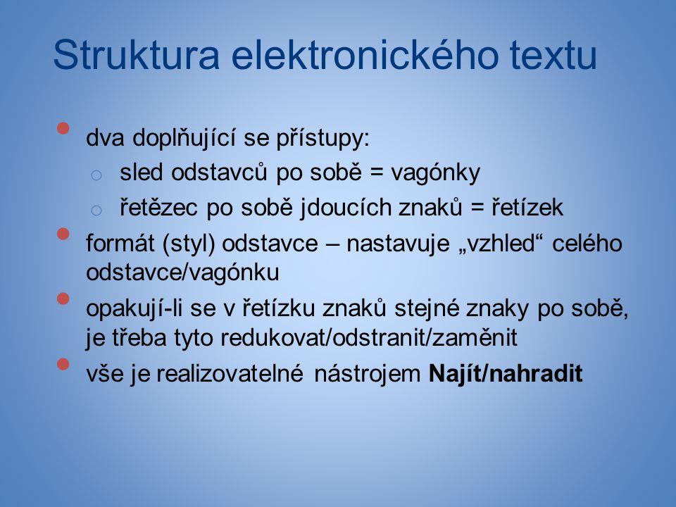 Struktura elektronického textu