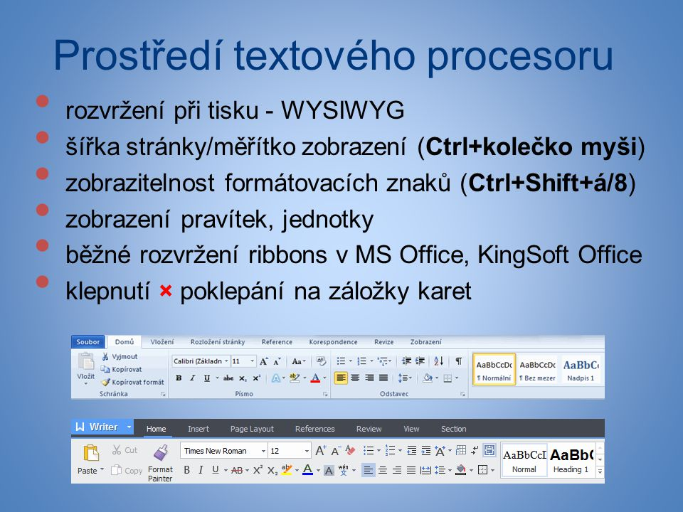 Prostředí textového procesoru