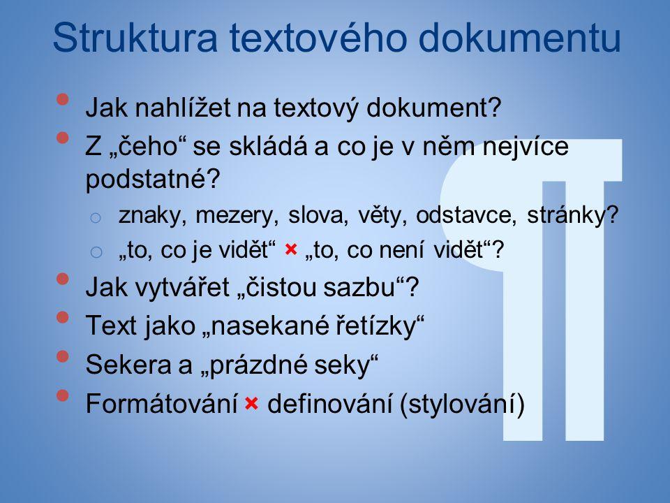 Struktura textového dokumentu