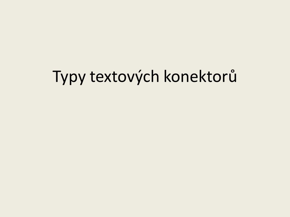Typy textových konektorů