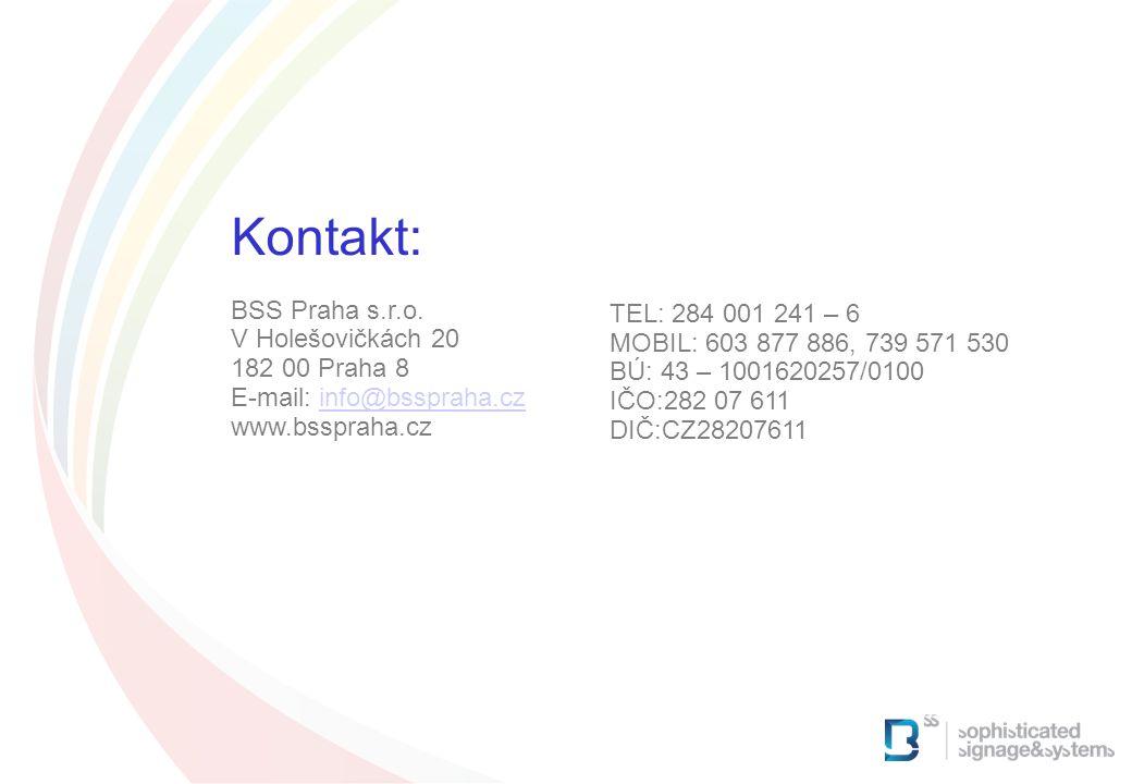 Kontakt: Anschließend Präsentation von Fluidnet BSS Praha s.r.o.