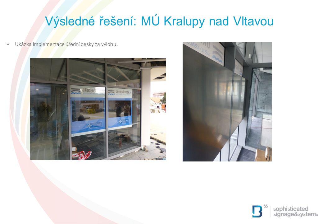 Výsledné řešení: MÚ Kralupy nad Vltavou