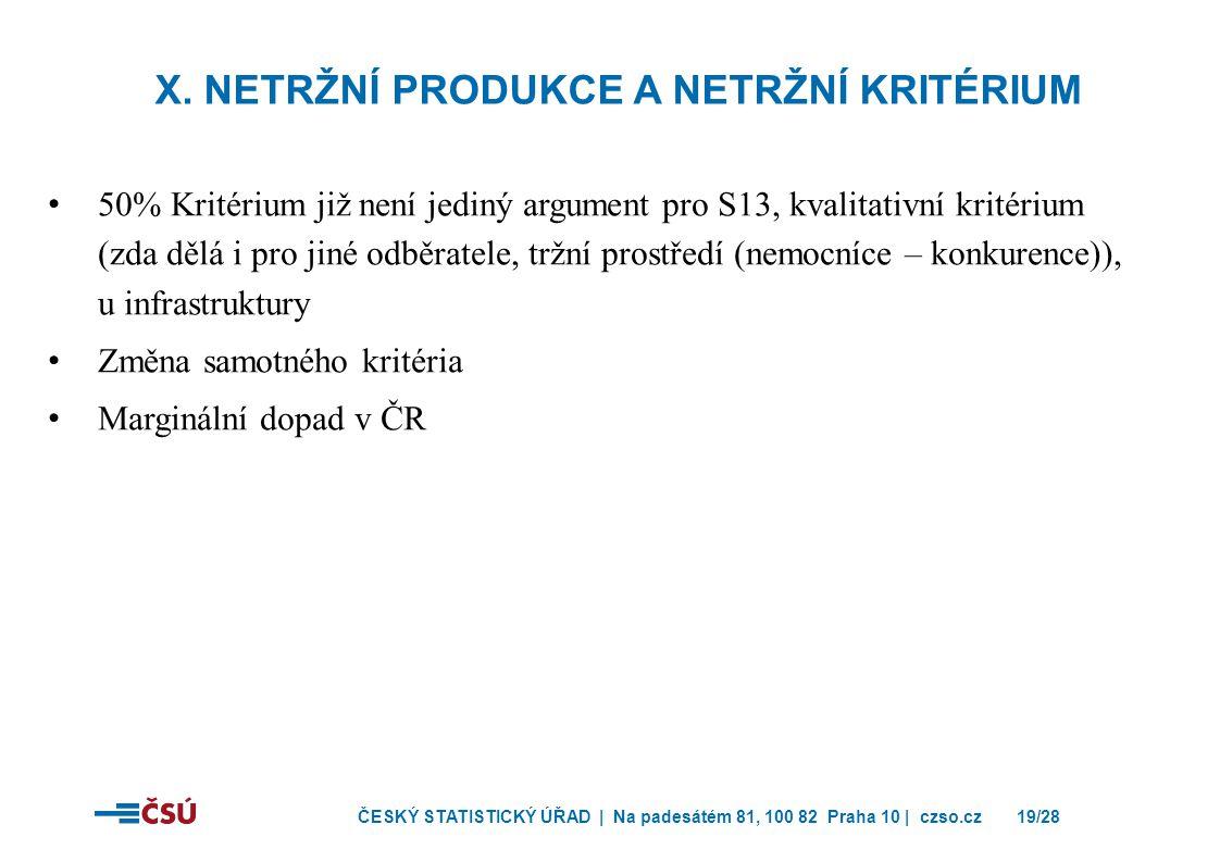 X. Netržní produkce a netržní kritérium
