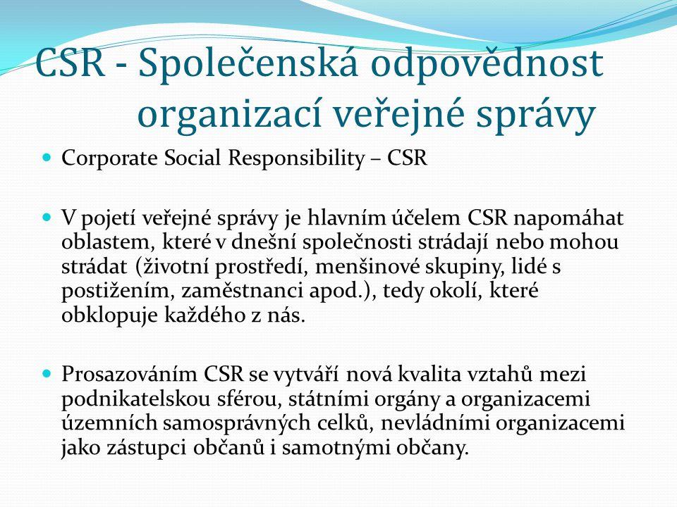 CSR - Společenská odpovědnost organizací veřejné správy