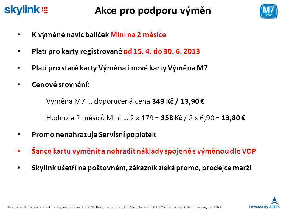 Akce pro podporu výměn K výměně navíc balíček Mini na 2 měsíce