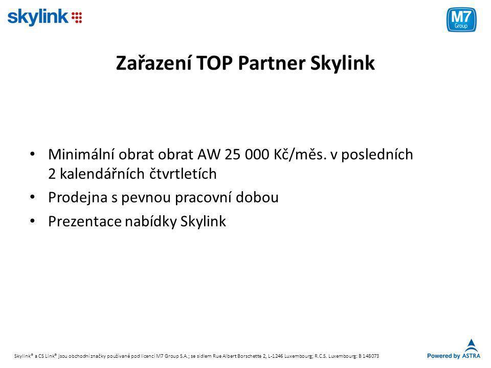 Zařazení TOP Partner Skylink