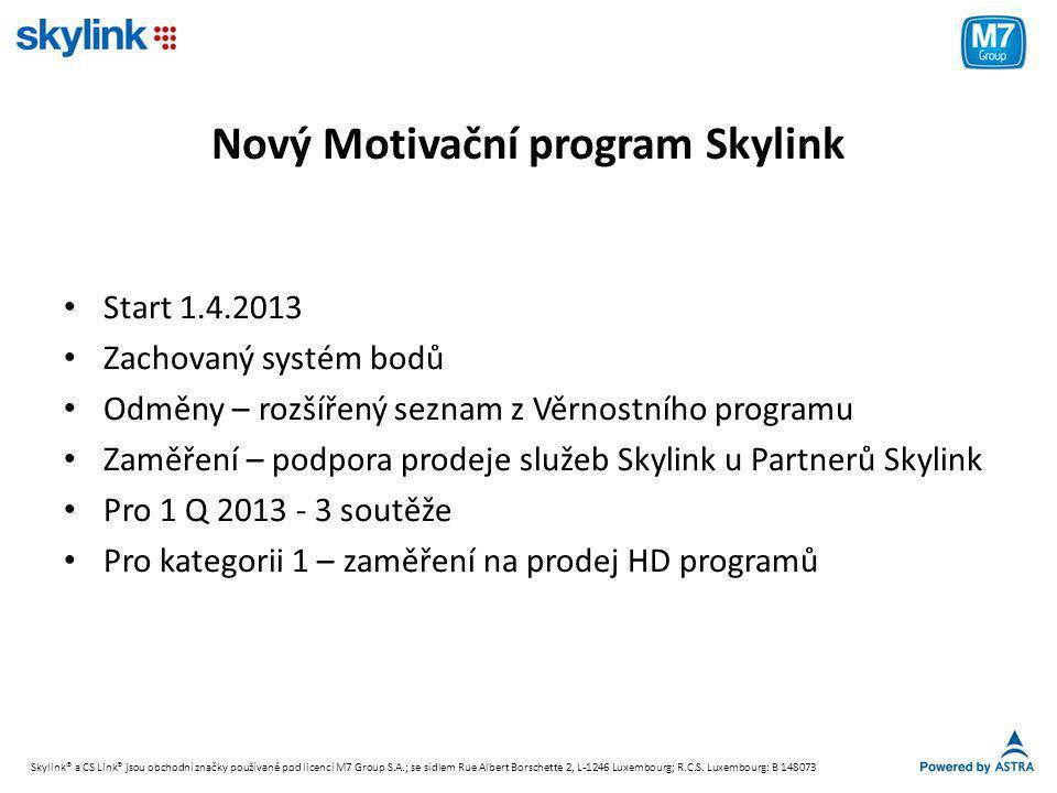 Nový Motivační program Skylink