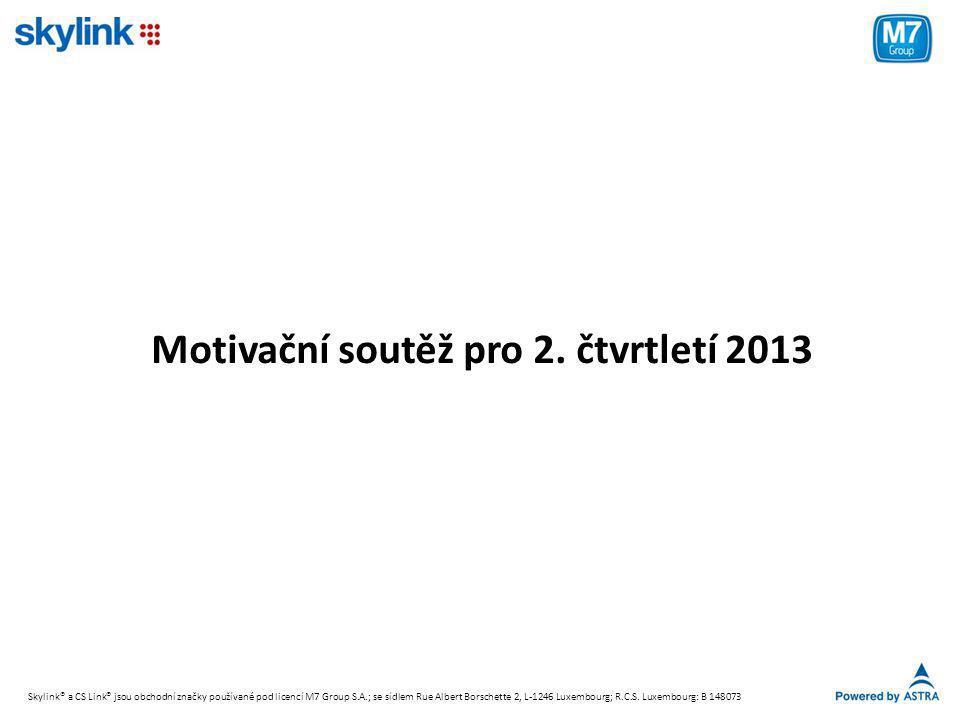 Motivační soutěž pro 2. čtvrtletí 2013
