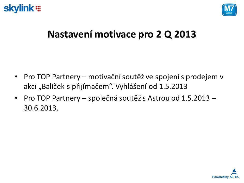 Nastavení motivace pro 2 Q 2013