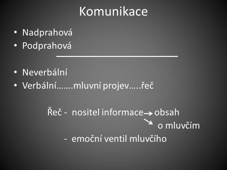 Řeč - nositel informace obsah