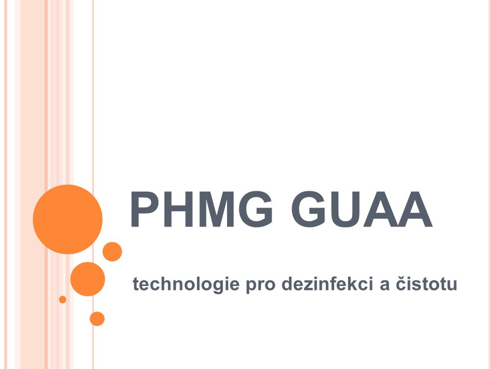technologie pro dezinfekci a čistotu
