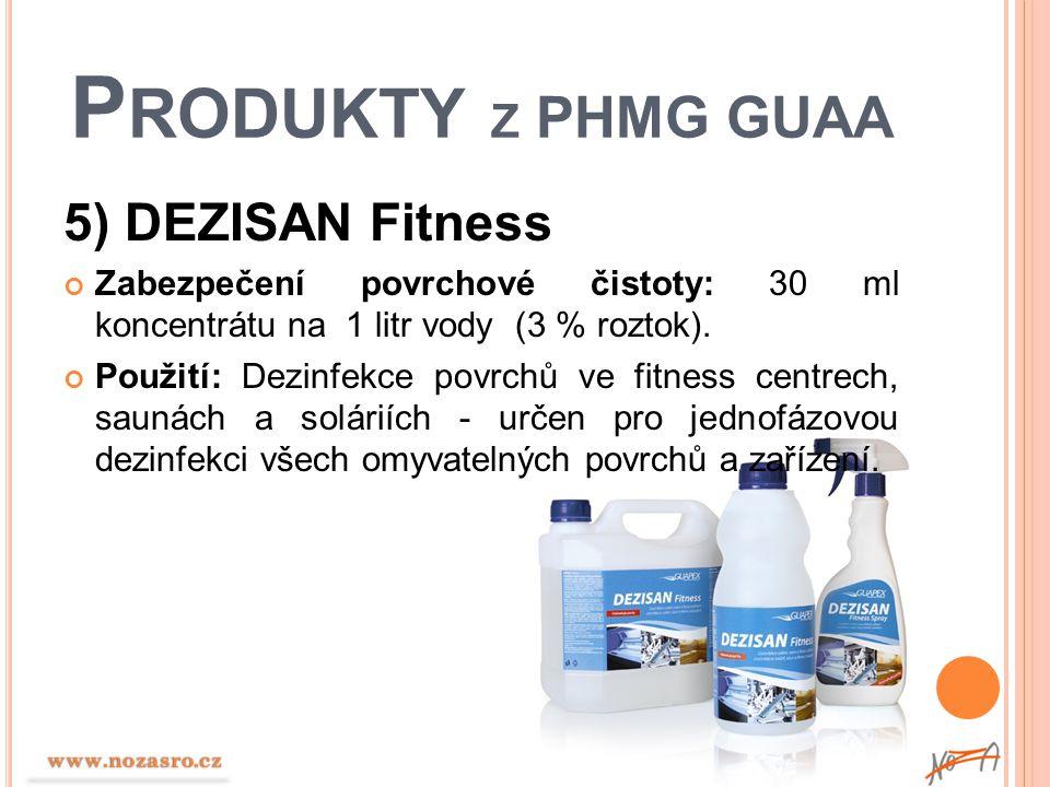 Produkty z PHMG GUAA 5) DEZISAN Fitness
