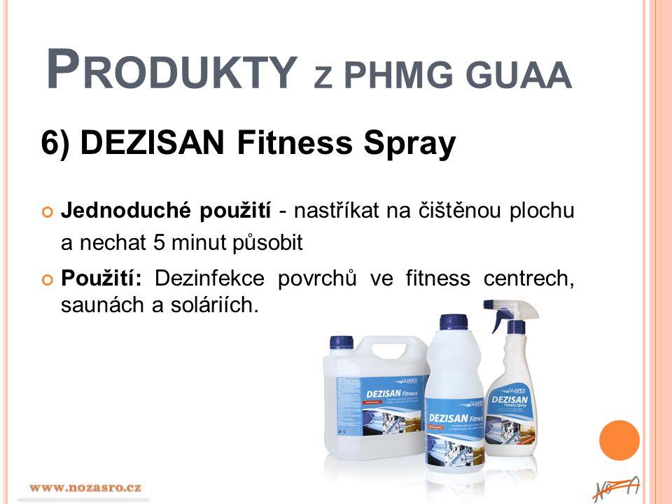 Produkty z PHMG GUAA 6) DEZISAN Fitness Spray