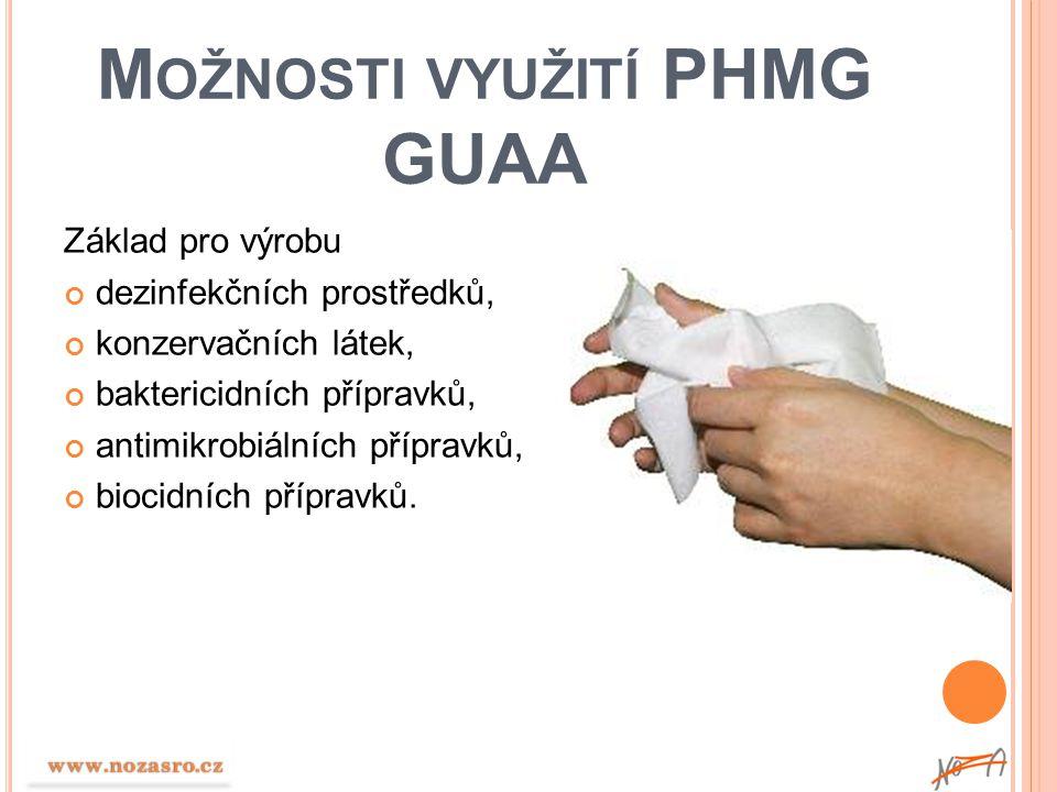 Možnosti využití PHMG GUAA