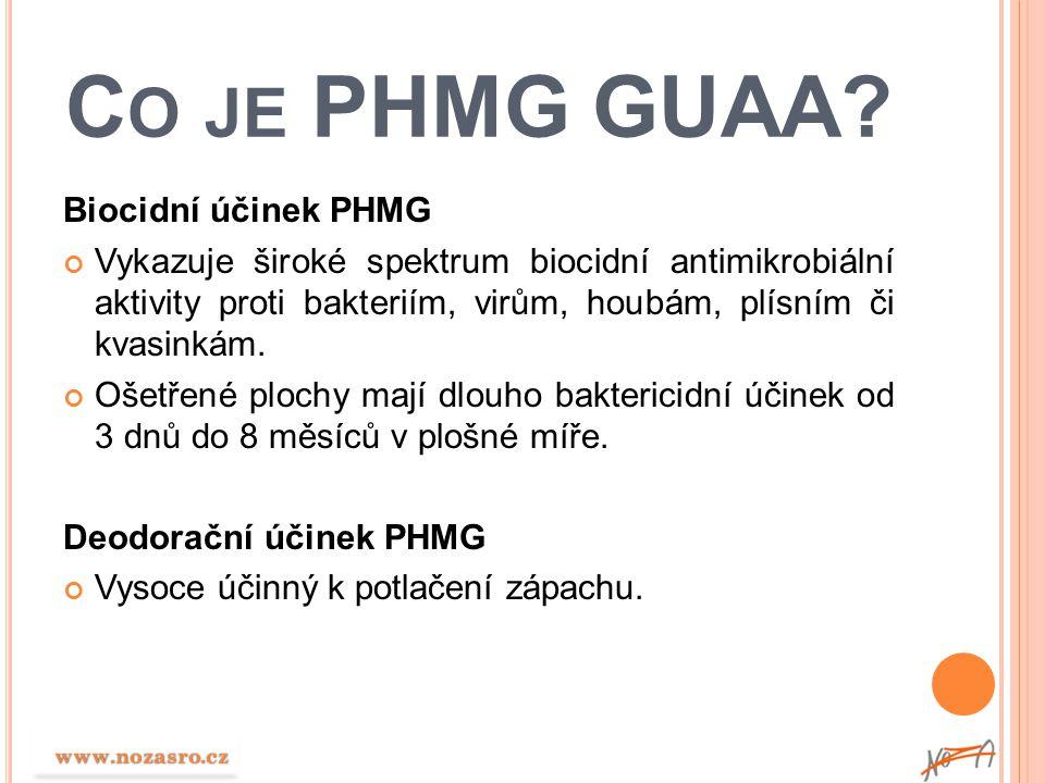 Co je PHMG GUAA Biocidní účinek PHMG