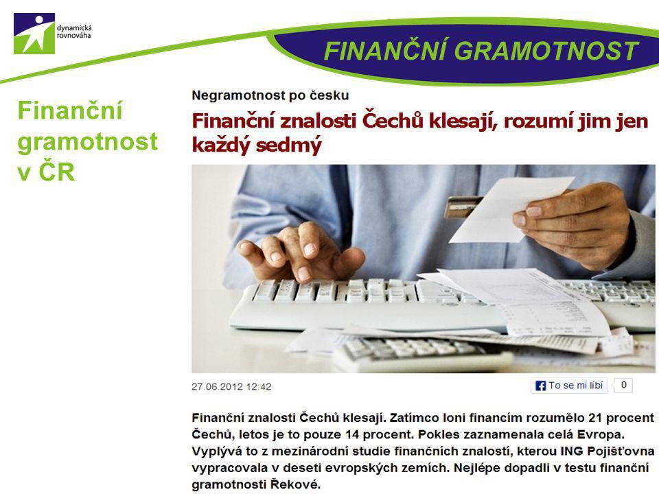 FINANČNÍ GRAMOTNOST Finanční gramotnost v ČR