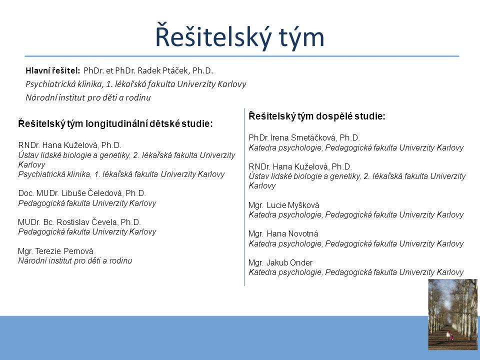 Řešitelský tým Hlavní řešitel: PhDr. et PhDr. Radek Ptáček, Ph.D.