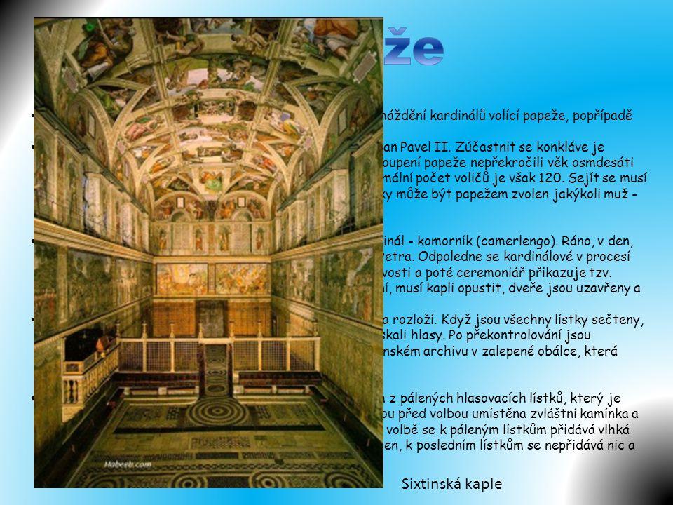 Volba papeže Sixtinská kaple