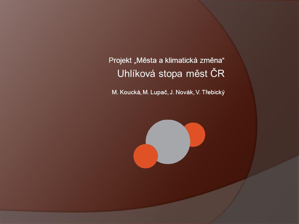 """Uhlíková stopa měst ČR Projekt """"Města a klimatická změna"""