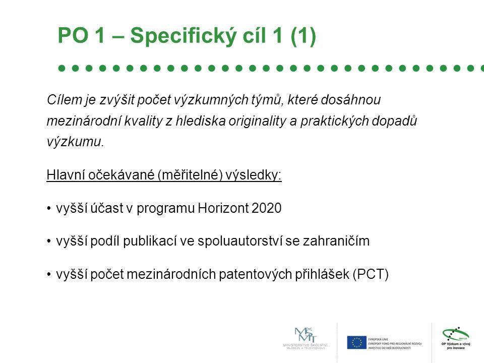 PO 1 – Specifický cíl 1 (1)
