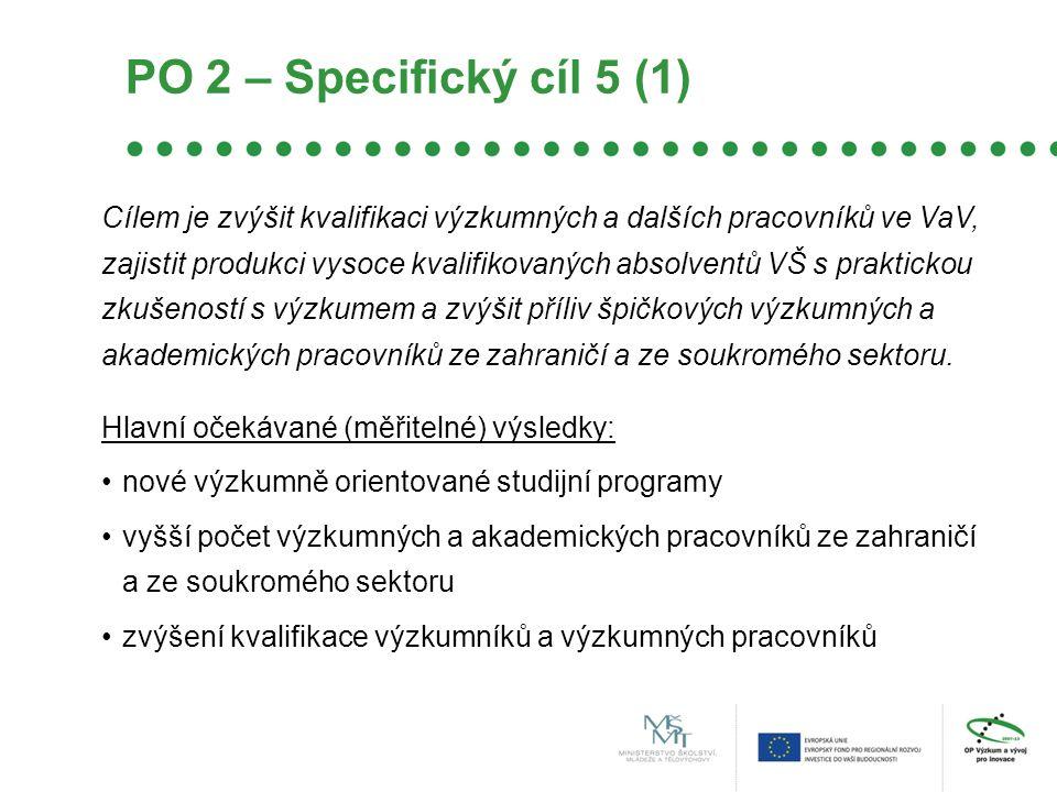 PO 2 – Specifický cíl 5 (1)