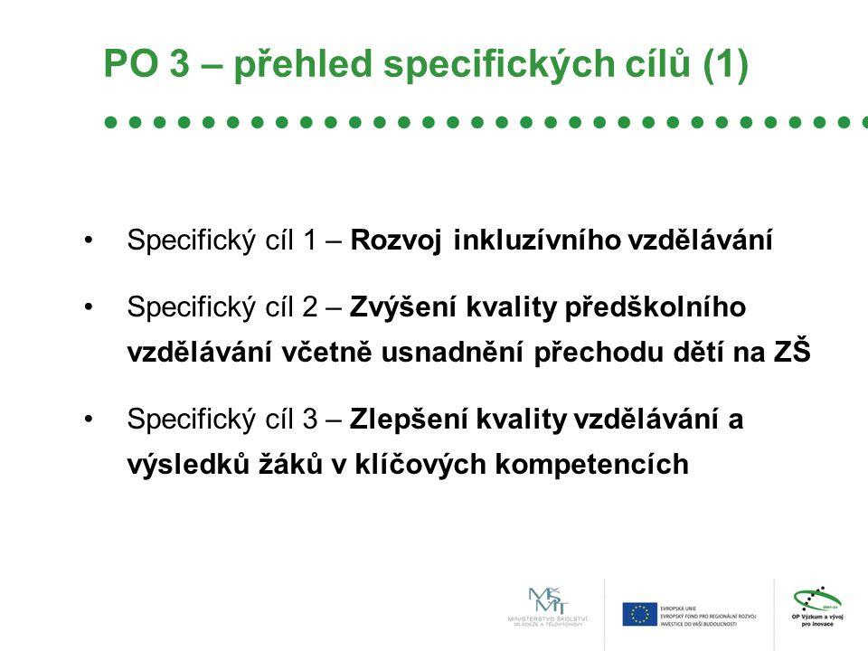 PO 3 – přehled specifických cílů (1)