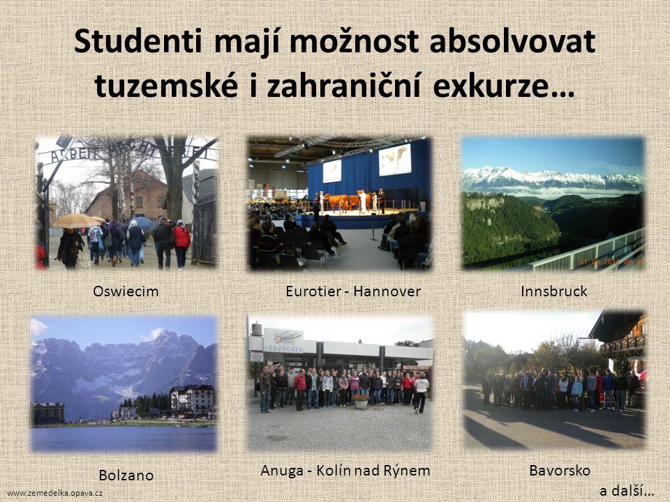 Studenti mají možnost absolvovat tuzemské i zahraniční exkurze…
