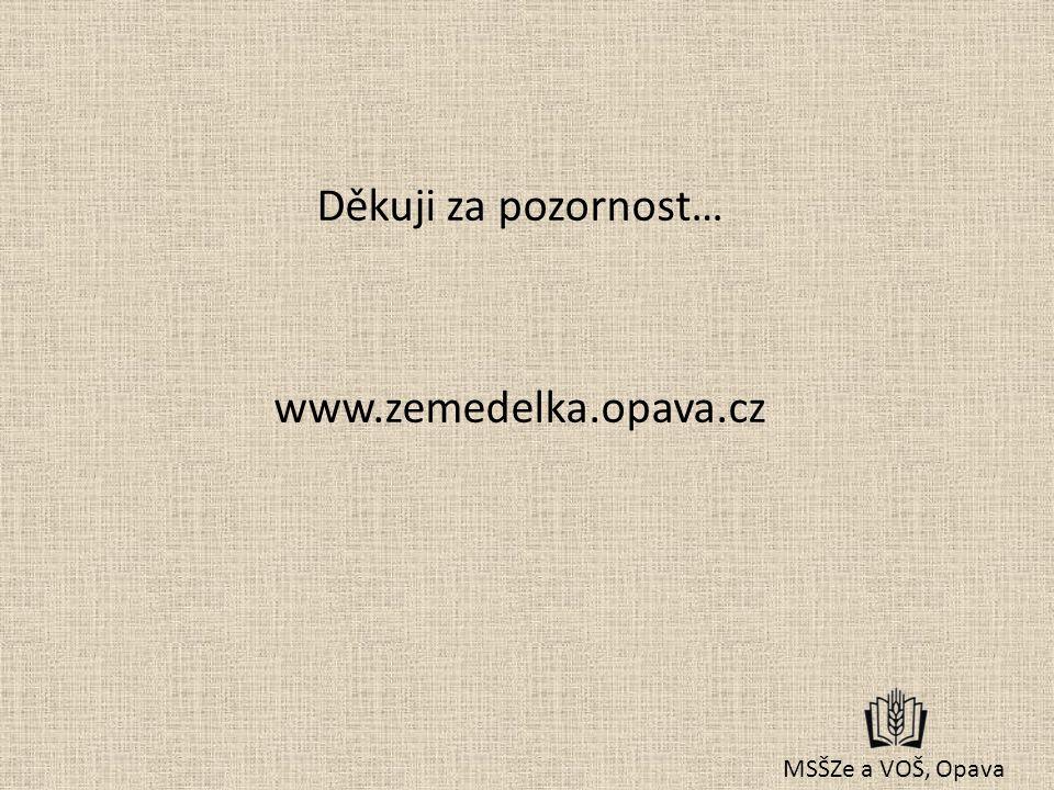 Děkuji za pozornost… www.zemedelka.opava.cz