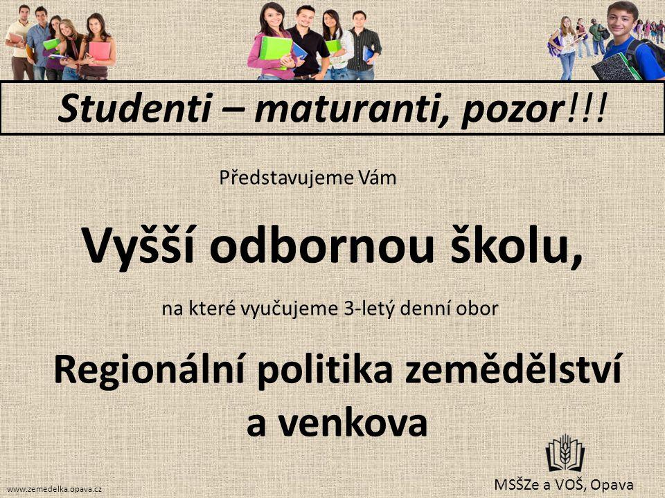 Studenti – maturanti, pozor!!!