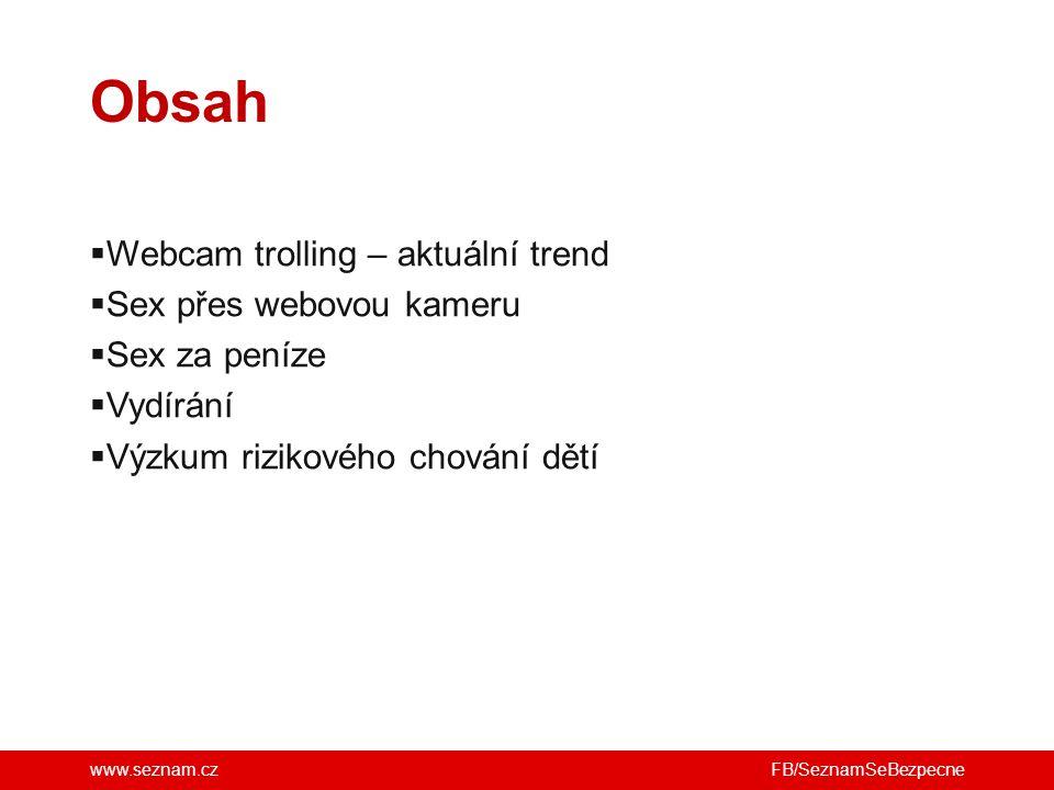 Obsah Webcam trolling – aktuální trend Sex přes webovou kameru