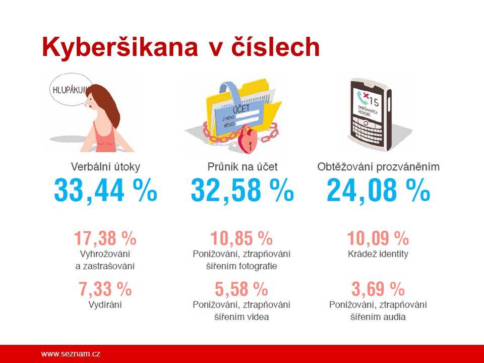 Kyberšikana v číslech FB/SeznamSeBezpecne