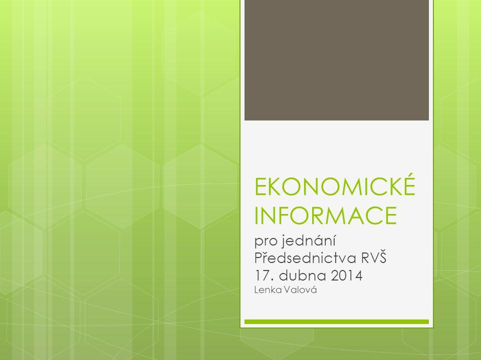 pro jednání Předsednictva RVŠ 17. dubna 2014 Lenka Valová
