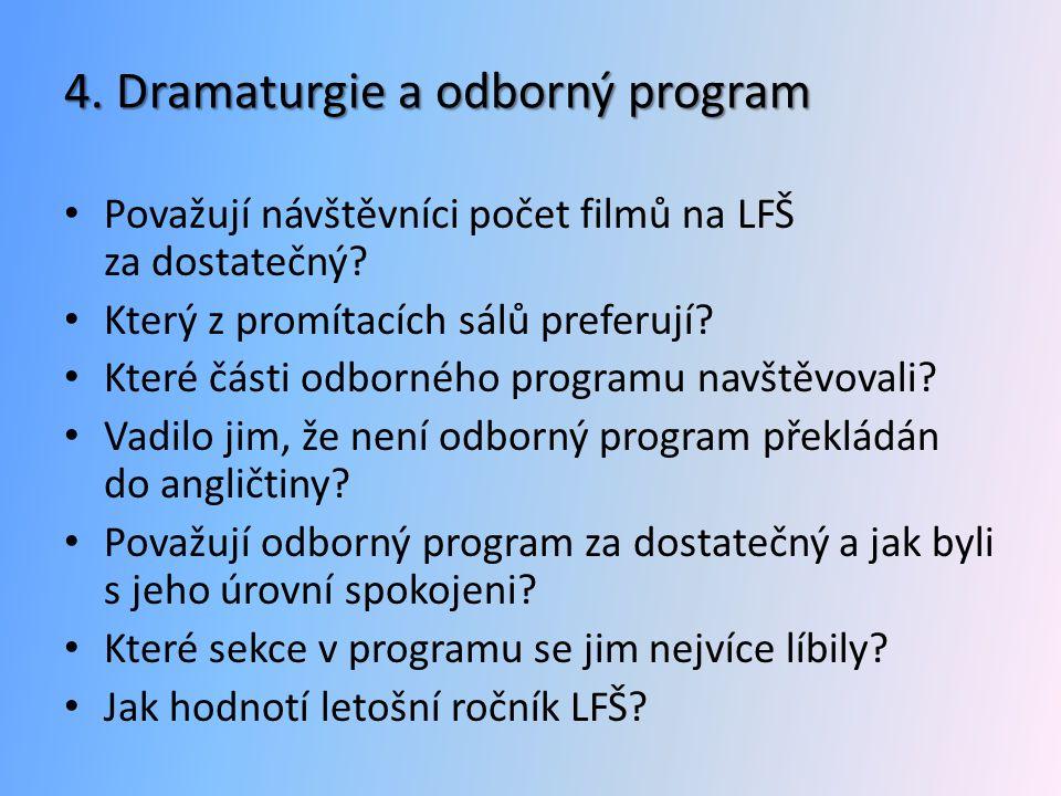 4. Dramaturgie a odborný program
