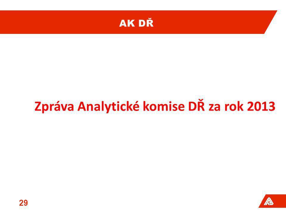 Zpráva Analytické komise DŘ za rok 2013