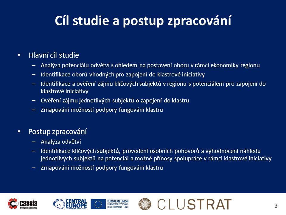 Cíl studie a postup zpracování