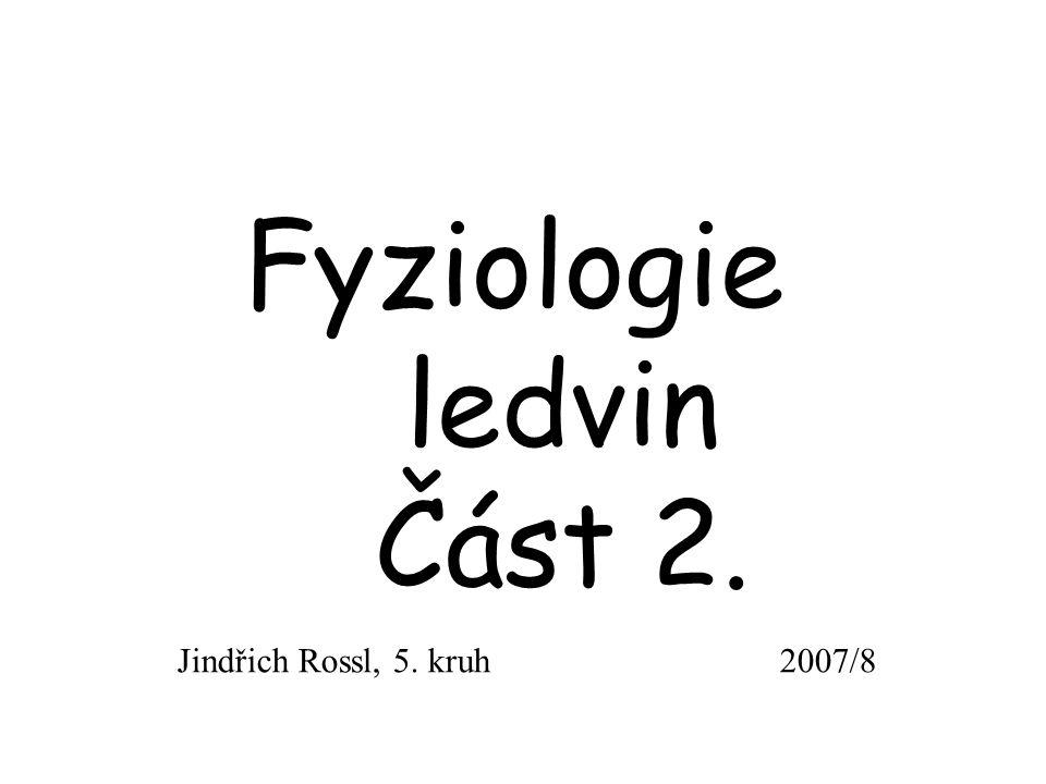 Fyziologie ledvin Část 2.