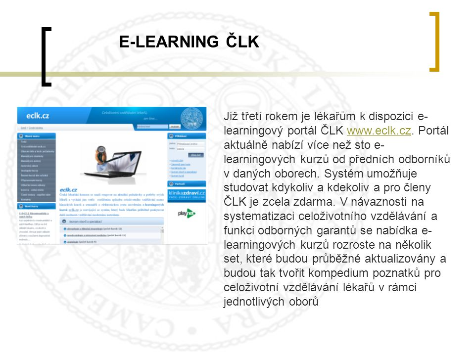 E-LEARNING ČLK