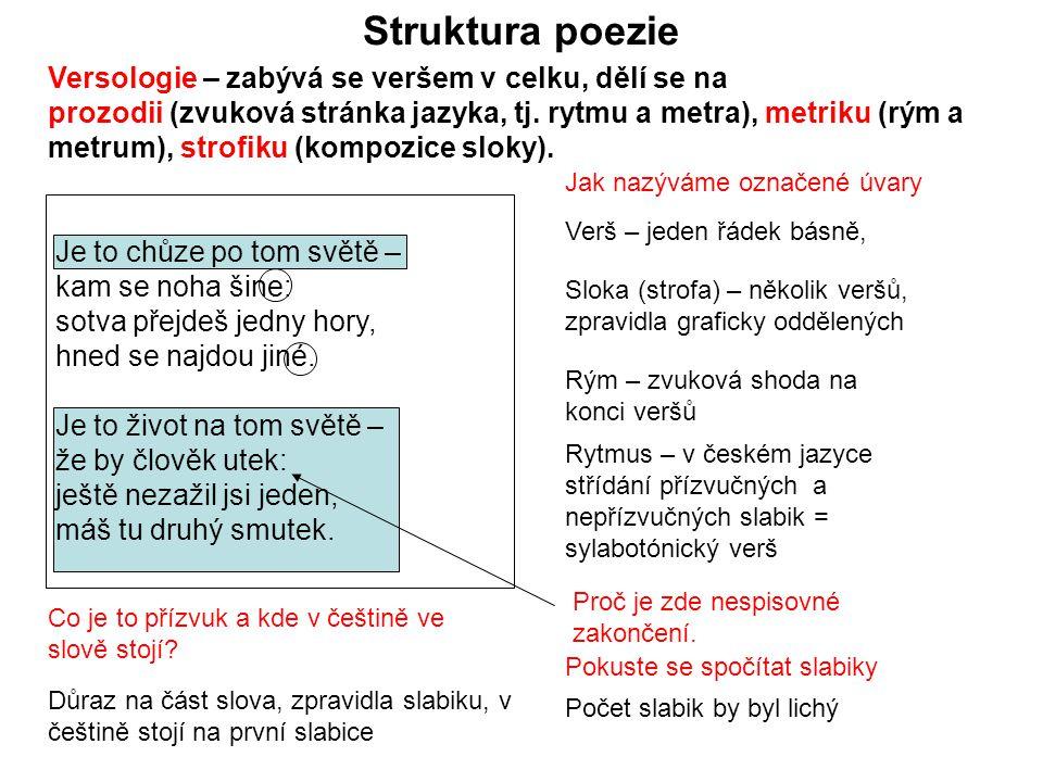 Struktura poezie