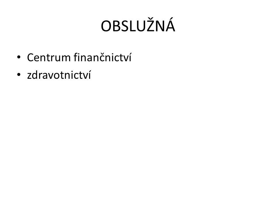 OBSLUŽNÁ Centrum finančnictví zdravotnictví