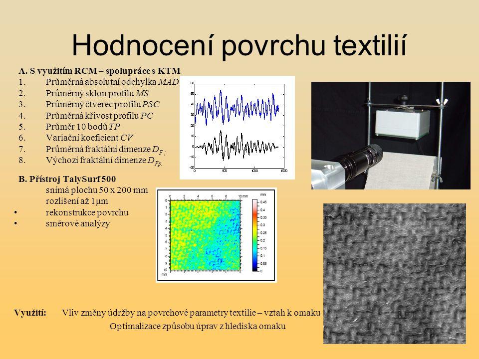 Hodnocení povrchu textilií