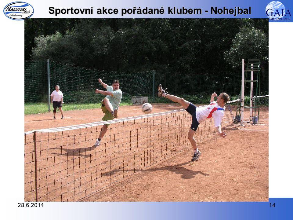 Sportovní akce pořádané klubem - Nohejbal
