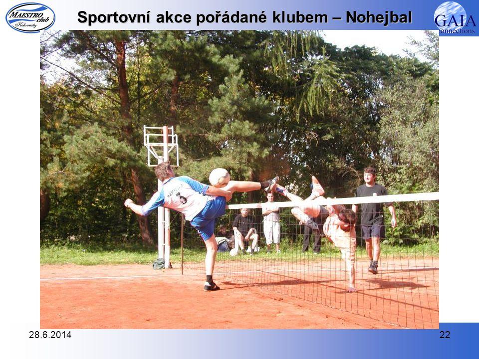 Sportovní akce pořádané klubem – Nohejbal