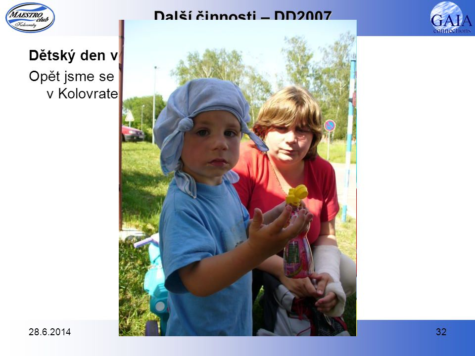 Další činnosti – DD2007 Dětský den v Kolovratech – 26.5.2007