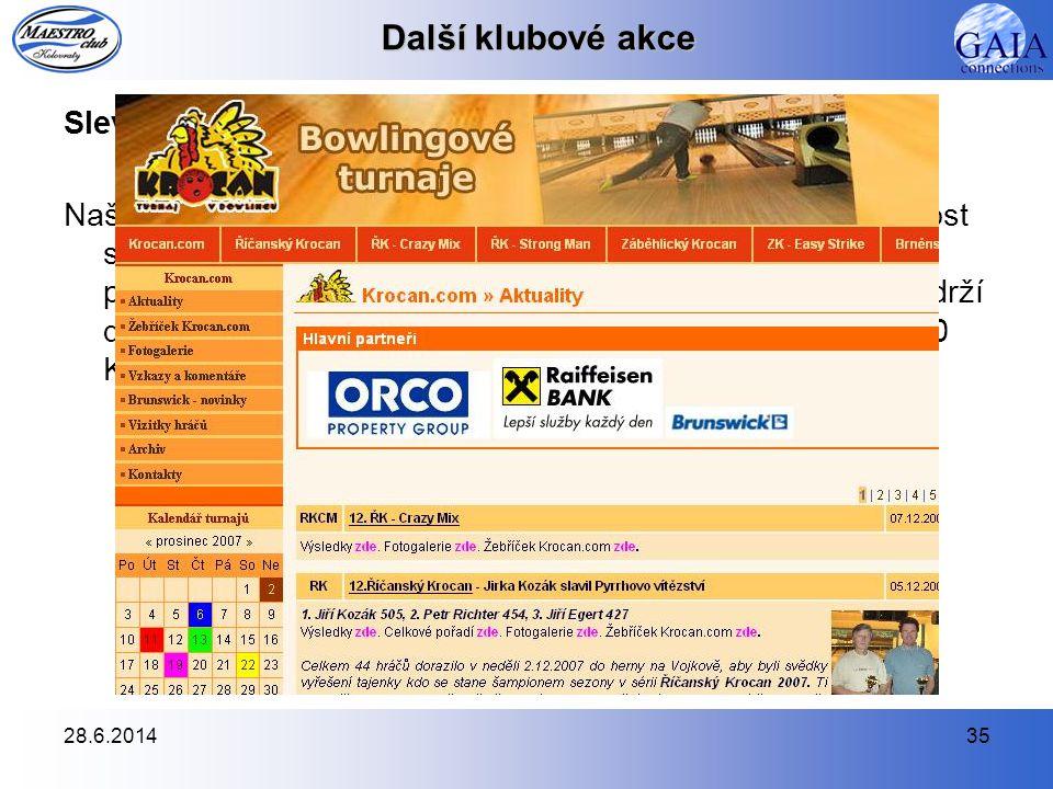 Další klubové akce Sleva na bowlingové turnaje série Krocan.com