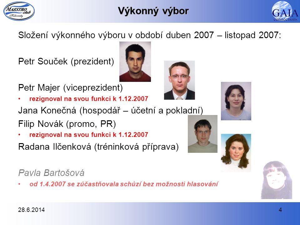 Výkonný výbor Složení výkonného výboru v období duben 2007 – listopad 2007: Petr Souček (prezident)