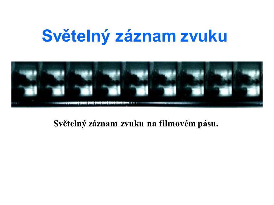 Světelný záznam zvuku na filmovém pásu.